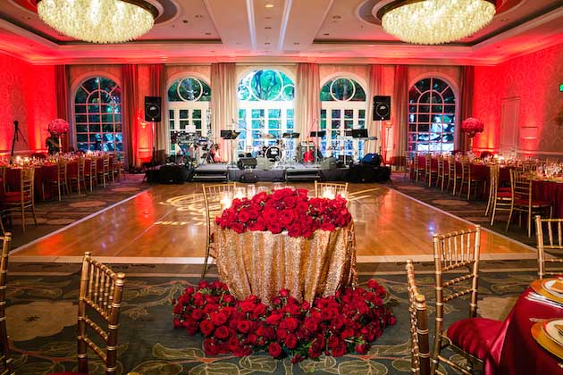 Romantic Red and Gold Wedding Featured on Inside Weddings  Luxe Linen