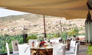 Kasbah Tamadot Outdoor Dining - Courtesy of Kasbah Tamadot
