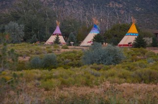 Mustang Monument Tipis - Courtesy of mustangmonument.com