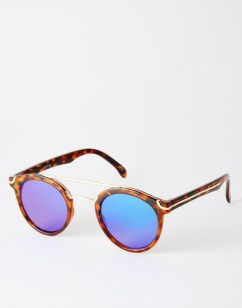 Luxe in mirrored round sunglasses - The Luxe Lookbook