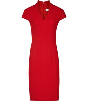 Emily Ratajkowski - Red pencil dress look for less - The Luxe Lookbook