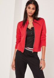 karlie-kloss-red-bomber-for-less-the-luxe-lookbook