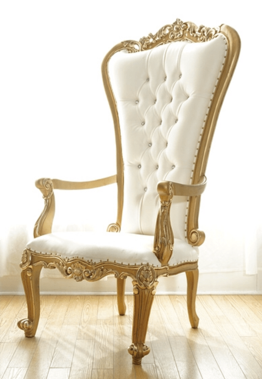 slip cover chairs pvc folding lounge chair throne | luxe rentals