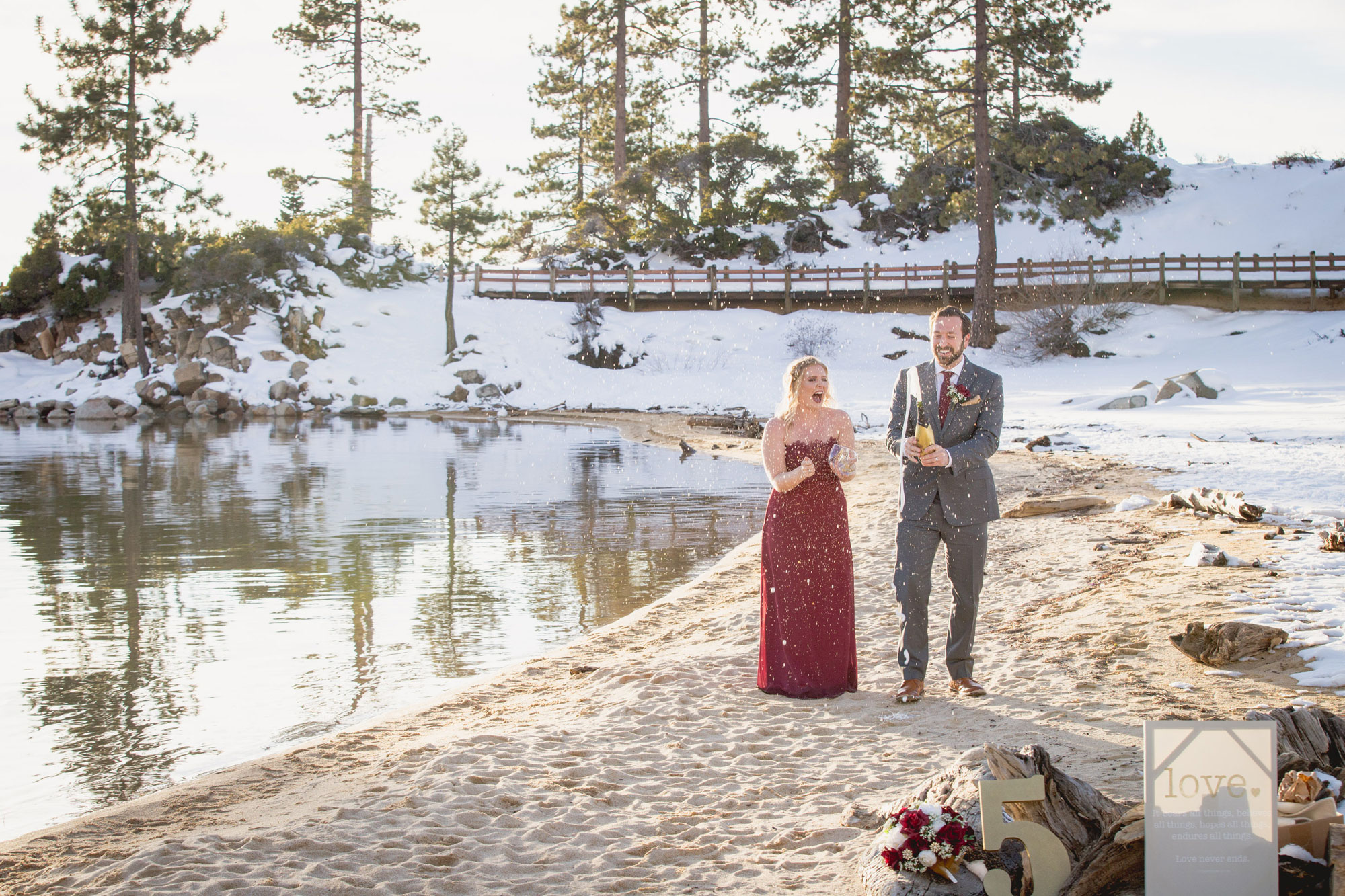 A Winter Lake Tahoe Vow Renewal  Luxe Mountain Weddings