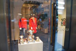 Gucci's Children's boutique next to the hotel