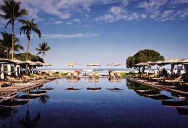 The Beach Tree pool for families at the Four Seasons Hualalai