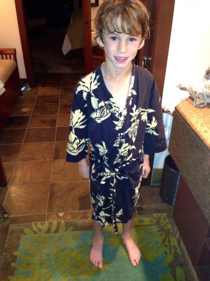 Kids robes Kona-style