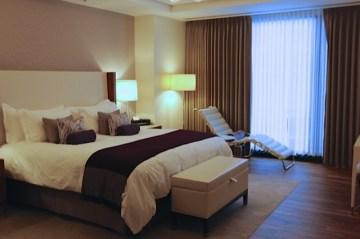The suite bedroom