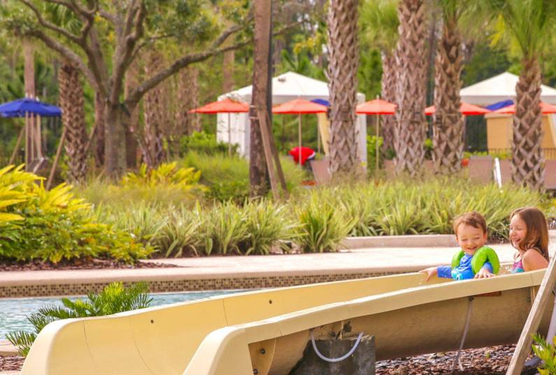Four Seasons Orlando toddler water slide