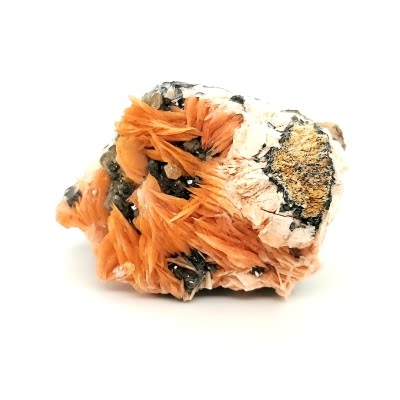 Barite with Cerussite on Galena