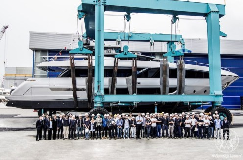 Riva 100' Corsaro Is Launched in La Spezia, Ahead of its World Premier in Hong Kong