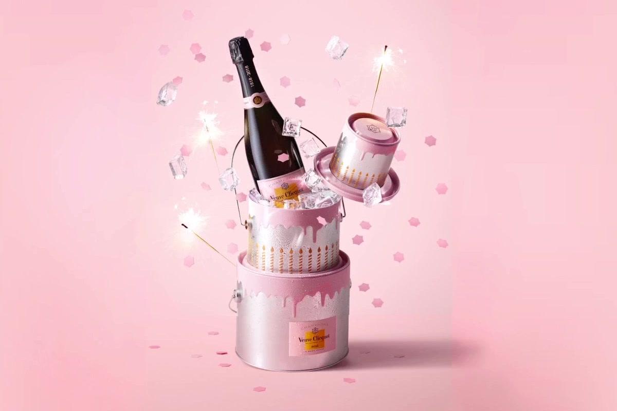 Veuve Clicquot Anniversary Cake for Rosé Champagne