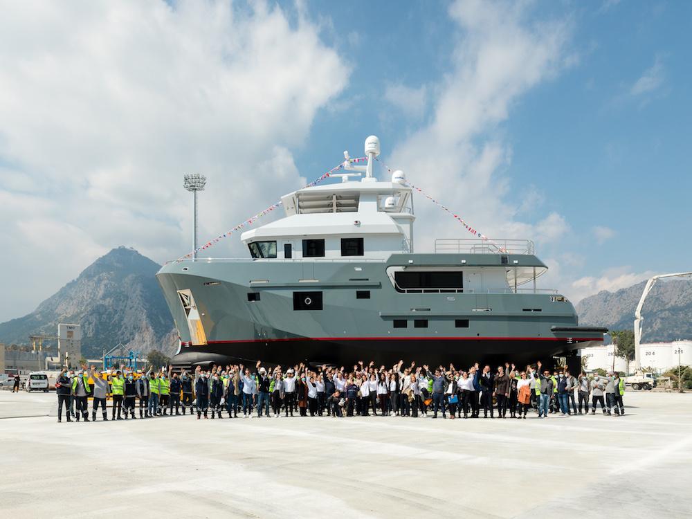 Bering Launched Pocket Explorer Yacht B77 in Antalya, Turkey