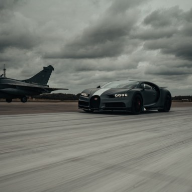 When Bugatti Chiron Sport 'Les Légendes du Ciel' Meets Dassault Rafale Marine Jet