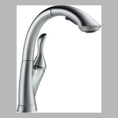 Water Efficient Kitchen Faucet Portable Cabinet Delta 4153 Ar Dst Single Handle Pull Out