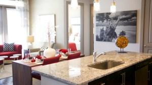 Bar Living Room at Alara Uptown Apartments in Uptown Dallas TX Lux Locators Dallas Apartment Locators