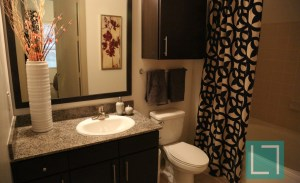 Bathroom at Gables Uptown Trail Apartments in Dallas TX Lux Locators Dallas Apartment Locators