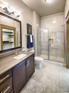 Bathroom at Strata Apartments in Uptown Dallas TX Lux Locators Dallas Apartment Locators