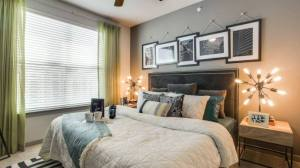 Bedroom View at Routh Street Flats Apartments in Dallas TX Lux Locators Dallas Apartment Locators