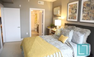 Bedroom at Gallery at Turtle Creek Apartments in Uptown Dallas TX Lux Locators Dallas Apartment Locators