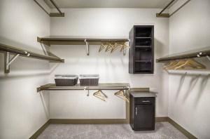 Closet at Strata Apartments in Uptown Dallas TX Lux Locators Dallas Apartment Locators