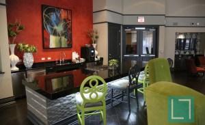 Community Area Kitchen View at Gables Uptown Trail Apartments in Dallas TX Lux Locators Dallas Apartment Locators