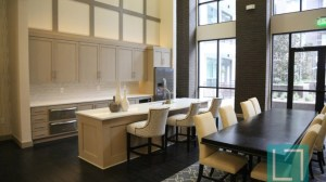Community Kitchen Area at L2 Uptown Apartments in Uptown Dallas TX Lux Locators Dallas Apartment Locators