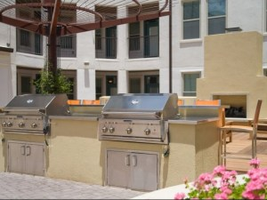 Community Patio Grill at The Monterey by Windsor Apartments in Uptown Dallas TX Lux Locators Dallas Apartment Locators