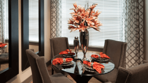 Dining Room Table at Avant Apartments in Uptown Dallas TX Lux Locators Dallas Apartment Locators