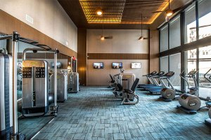 Fitness Workout Center at The Taylor Apartments in Uptown Dallas TX Lux Locators Dallas Apartment Locators