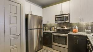 Kitchen at Routh Street Flats Apartments in Dallas TX Lux Locators Dallas Apartment Locators