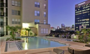 Pool View at McKinney Uptown Apartments in Uptown Dallas TX Lux Locators Dallas Apartment Locators