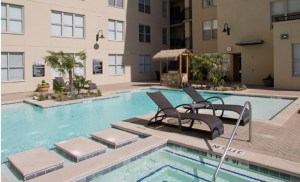 Pool at McKinney Uptown Apartments in Uptown Dallas TX Lux Locators Dallas Apartment Locators