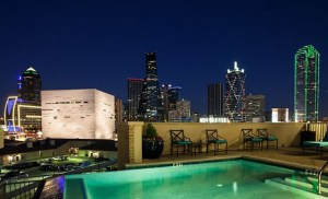 Rooftop View at The Vista Apartments in Uptown Dallas TX Lux Locators Dallas Apartment Locators