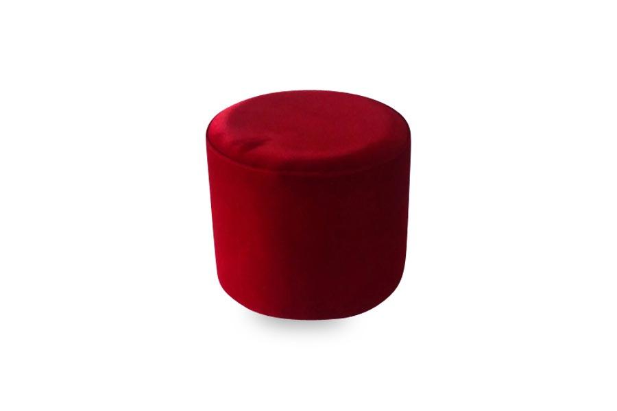 18 Red Round Ottoman  Lux Lounge EFR 888 2474411