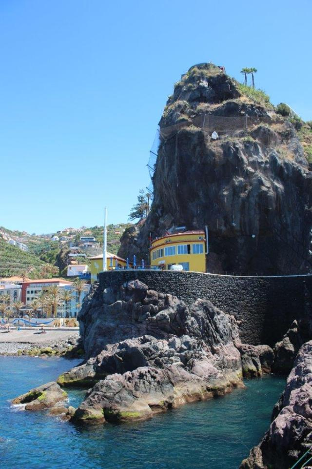 Natural port and hotel Ponta do Sol Madeira South tour