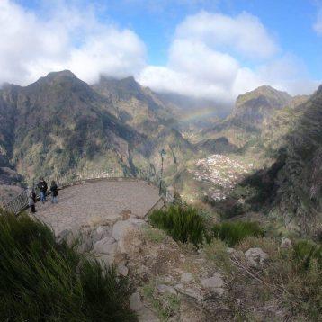 Madeira Centre tour View of Curral das Freiras, Nuns Valley, from Eira do Serrado Madeira