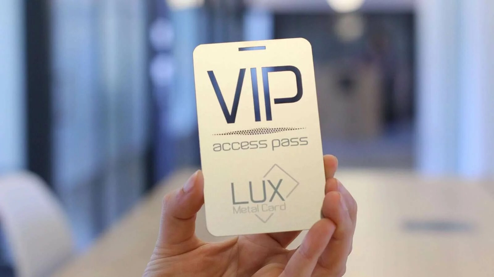 Stainless Steel Metal Event Pass