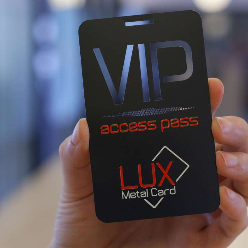 Matte Black Metal Event Pass 3