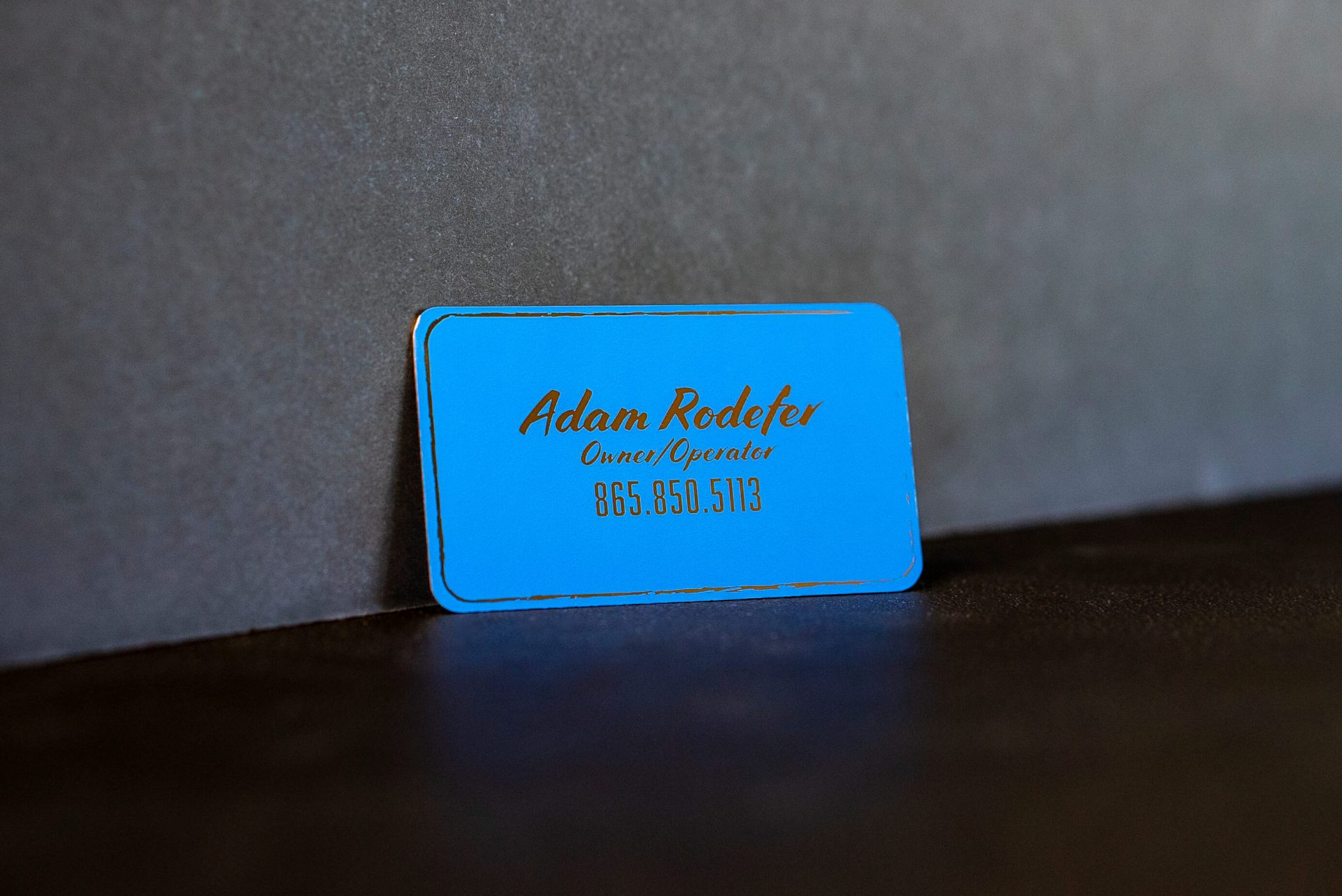 Car Detailing Metal Business Card
