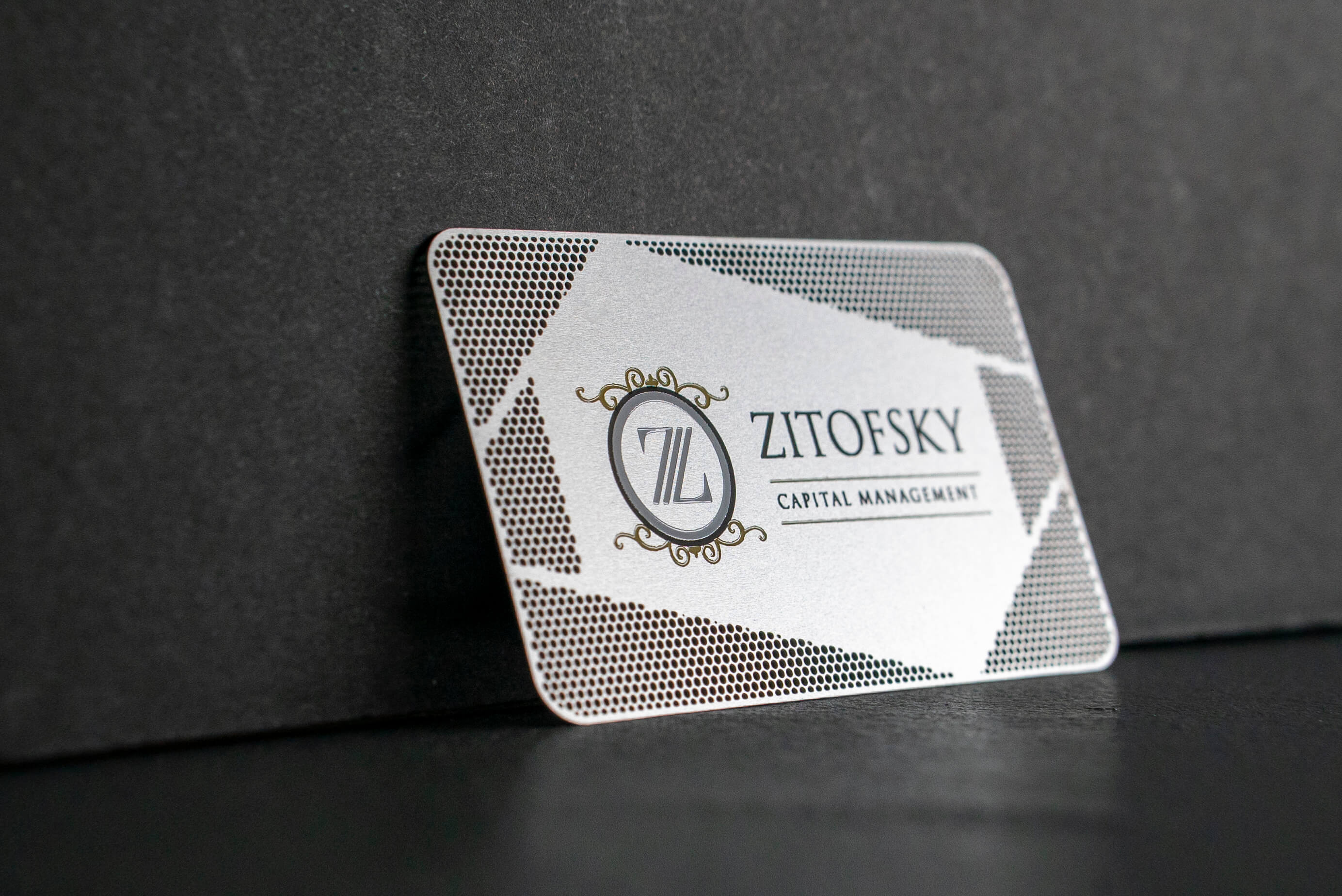 Capital Management Stainless Steel Metal Business Card