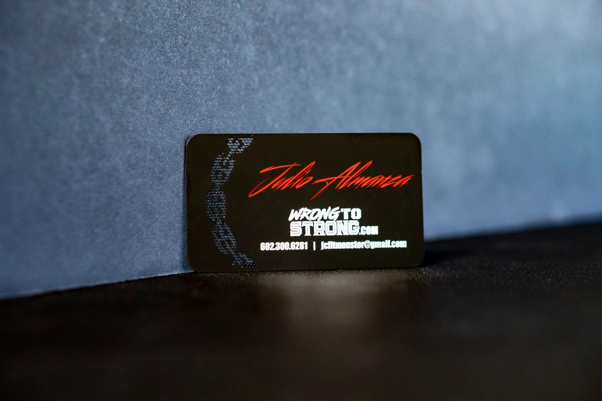 Custom Black Gym Metal Business Card