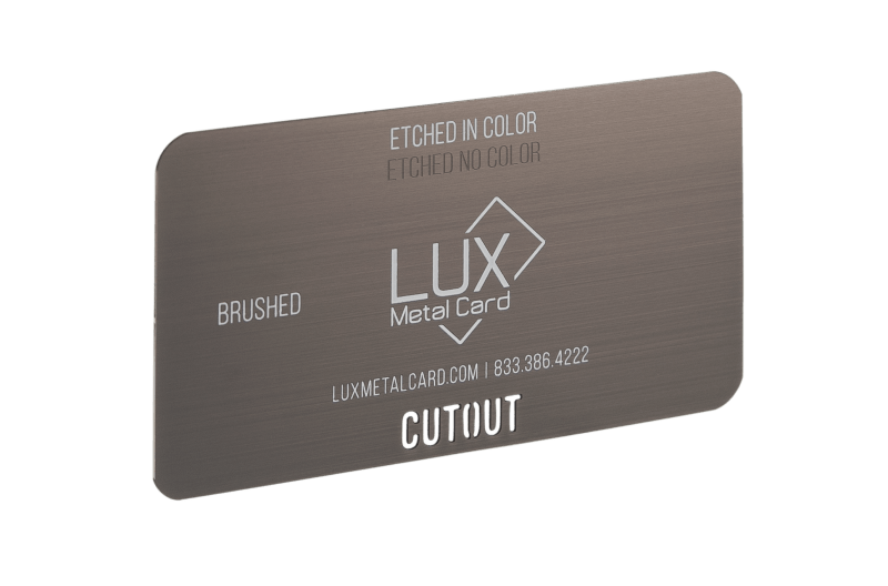 Gunmetal Brushed Metal Business Card