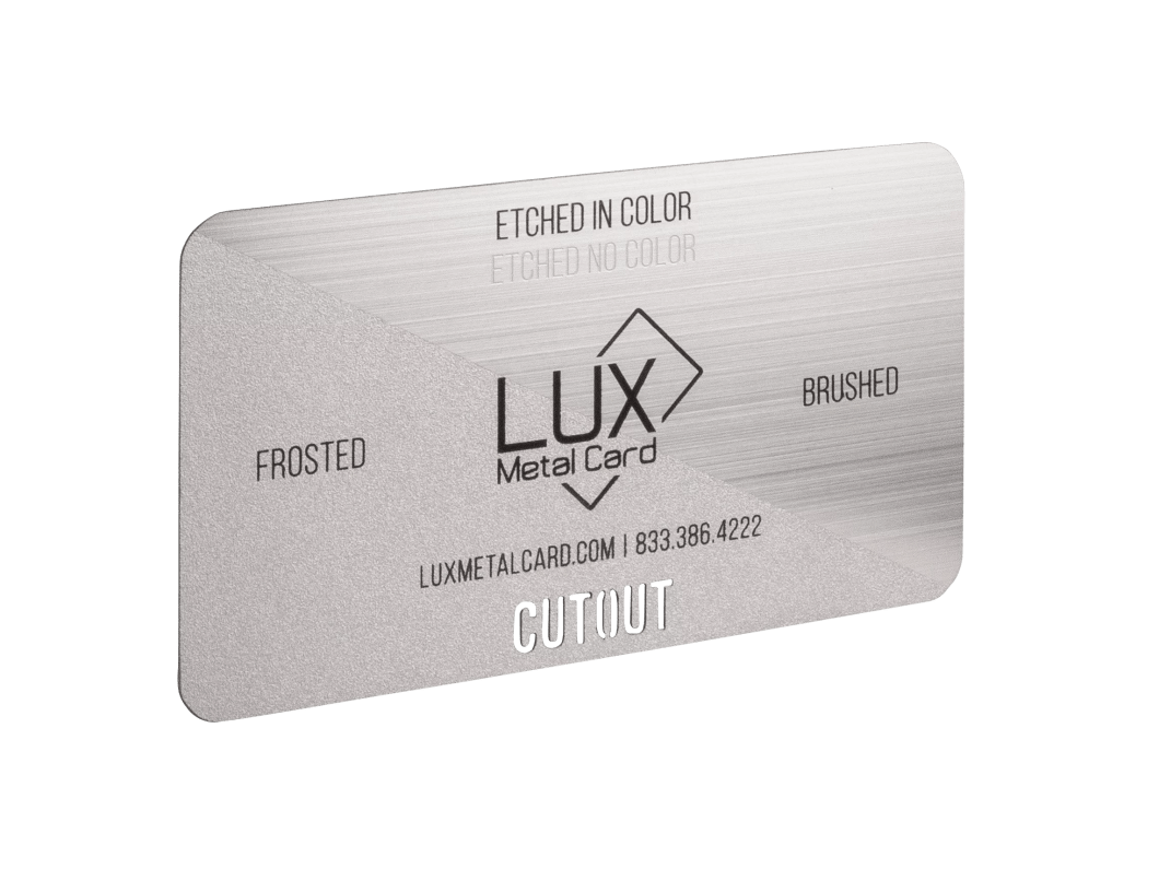 Stainless Steel Frosted and Brushed Metal Business Card