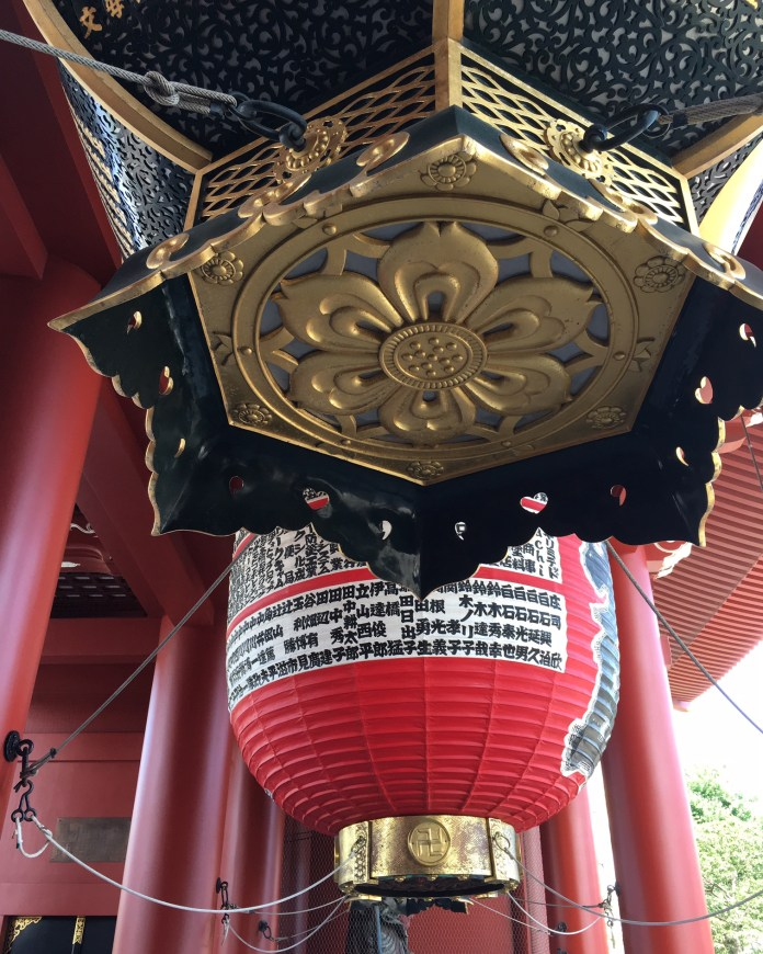 Lanterns at the gate of Asakusa Sensoji Temple Tokyo