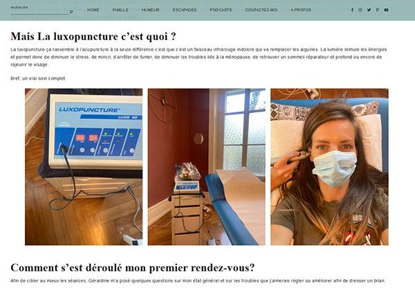 L'avis de Thérèse and the kids sur la luxopuncture Géraldine Asselin