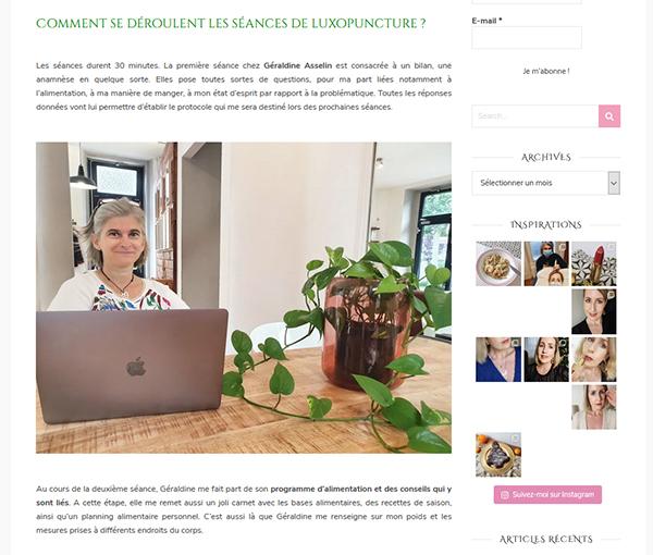 """Le retour de """"La Vie de Valérie"""" sur la luxopuncture Géraldine Asselin"""