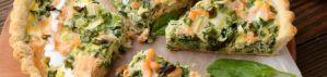 Tarte au saumon épinards