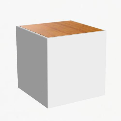 bora side table wood top white
