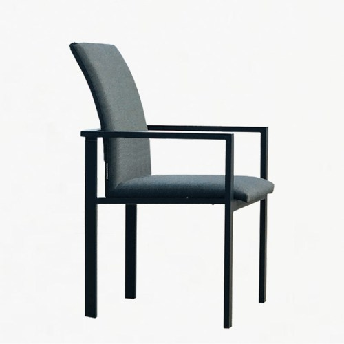 edge stacking armchair charcoal